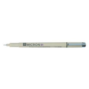 Feutre technique à pointe calibrée Pigma Micron 01 (0,25 mm)
