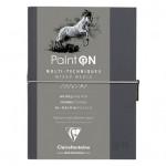 Carnet Paint'On papier Gris 250 g/m² A5 32 F