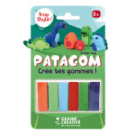 Gomme à modeler Patagom Kit Dinosaures 6 x 25 g