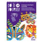 Activité DIY Mosaïques masques animaux de la jungle