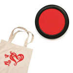 Izink textile - Tampon encreur - Rouge santal