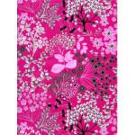 Feuille décopatch - Imprimé Fleurie rose - 30 x 40 cm