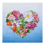 Broderie Diamant kit intermédiaire Coeur de fleurs