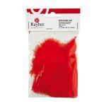 Plume décorative 8cm sachet de 10 - Rouge