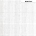 Carton ondulé mini - Blanc -220g - 50 x 70 cm
