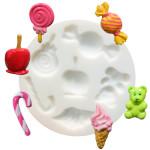 Moule en silicone pour miniatures thème bonbons