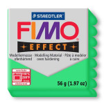 Pâte polymère Fimo Effect 56g - 504 - Vert translucide