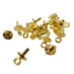 Mini crochet doré 7 mm - 16 pièces