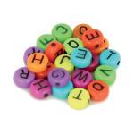 Perles alphabet vif 7 mm x 300 pcs