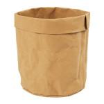 Sac de rangement en papier cuir Ø 11 cm H. 12 cm