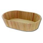 Bac ovale en bois 30 x 19 x 7 cm