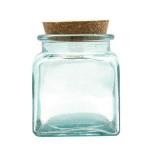 Pot en verre Carré 9 cm