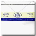 25 enveloppes doublées Vergé 165 x 165 mm - Extra blanc