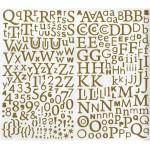 Autocollants alphabet or pailleté