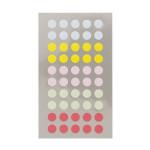 Gommettes rondes pastels 8 mm