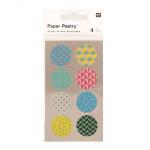 Stickers en papier Washi ronds 90s x 4 planches