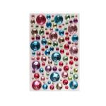 Strass cristal ronds multicolores autocollants 106 pcs