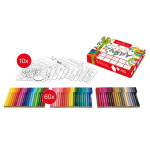 Coffret de coloriage 60 feutres Connector + 10 cartes à colorier