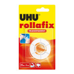 Bande adhésive Rollafix transparent recharge 25 m x 19 mm