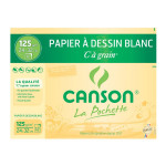 Canson C à GRAIN, Grain Fin 125g/m², pochette - 24 x 32 cm