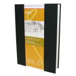 Livre à croquis format portrait couverture noire 140g/m² - 21 x 29,7 cm (A4)