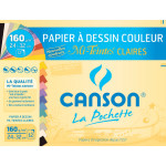 Papier Mi-Teintes 160g 24 x 32cm pochette de 12 feuilles pastel