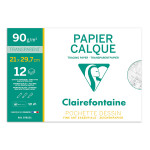 Pochette de papier calque supérieur 90 g/m² - 21 x 29,7 cm (A4)