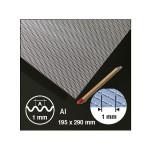 Plaque de métal déployée ondulée motif 1 mm