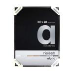 Cadre en aluminium Alpha Noir anodisé Mat - 24 x 30 cm