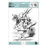 Gravure à colorier 30 x 40 cm 300 g/m² + 100 g/m² The White Rabbit