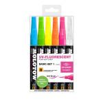 Marqueur GraFX encre spéciale UV - Set 6 couleurs