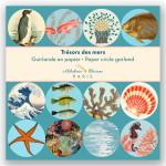 Guirlande 12 cercles illustrés Ø 11 cm x 3 m Trésors des mers
