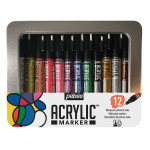 Feutre Acrylic Marker 1,2 mm Boîte de 12 couleurs