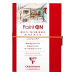 Carnet Paint'On papier Blanc 250 g/m² A5 32 F