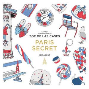 Livre Carnet de coloriage Paris secret
