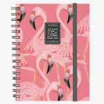 Cahier ligné à spirales flamant rose