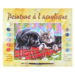 Peinture par numéro Comme chien et chat