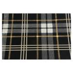 Papier indien 50 x 70 cm 120 g/m² Checks Noir Blanc & Or