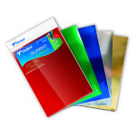 Papier bristol A4 Couleur 5 feuilles assorties 225 g/m²