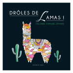 Illustrations à colorier Drôles de lamas !