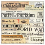 Papier italien 50 x 70 cm 85 g/m² Titres Journaux
