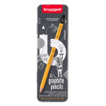 Crayons graphites dans boîte métal x 6 pcs