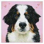 Broderie Diamant kit Squares intermédiaire Zuzu le chien
