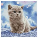 Broderie Diamant kit Squares intermédiaire Portrait de chaton