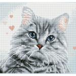 Broderie Diamant kit Squares intermédiaire Pricilla la feline + cadre