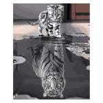 Peinture par numéros Chaton Reflet Tigre