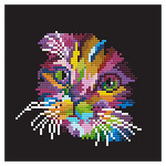 Broderie Diamant kit  intermédiaire Chat multicolore