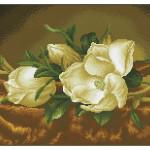 Broderie Diamant kit  expert Magnolias sur velours par M.J. Head