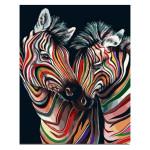 Peinture par numéros Couple de Zèbres colorés