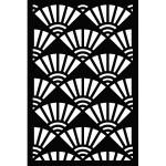 Pochoir Fond éventails - 10 x 15 cm
